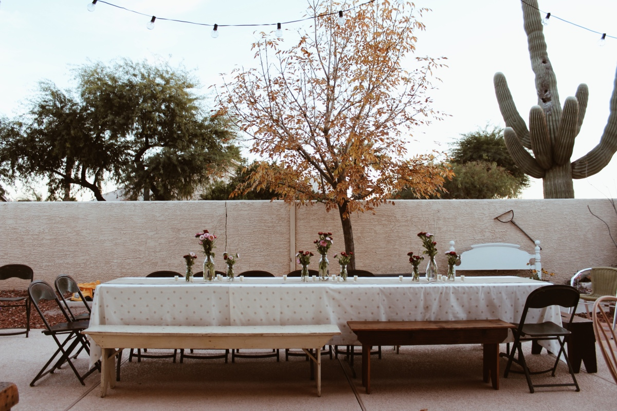 Jenna Abbadessa 30th birthday party vintage decor outdoor dinner