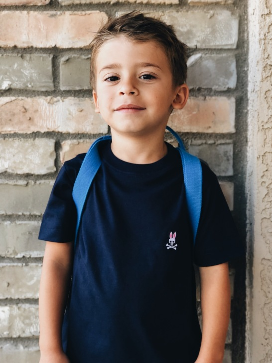 Is it his face that's cute or is it the @psychobunny crew neck tee from Zappos that makes him look even cuter. I can't decide. #sponsored #Zappos #ZapposxPsychoBunnyKids #psychobunny #madeformischief http://gofyi.ly/?B1B81BB1